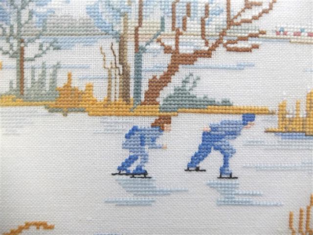 Detail winterschilderij