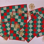 Vijf placemats kerst
