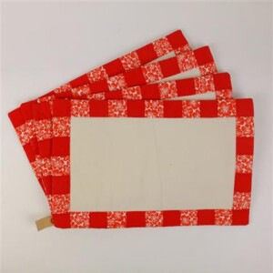 Vier placemats kerst