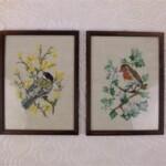 Twee vogeltjes schilderijtjes