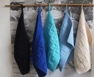 gebreide handdoekjes van katoen
