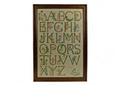 Alfabet Rie Cramer ingelijst