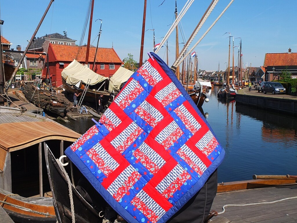Hollandse quilt op 5 mei aan boot