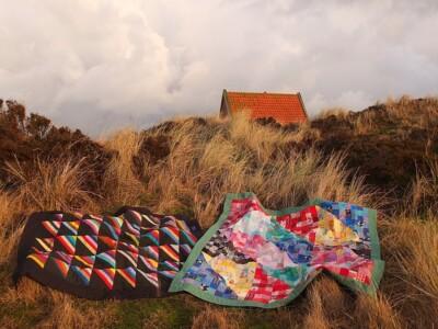 quilts in de duinen met ochtendlicht