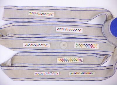 rol borduurband met geborduurde randjes