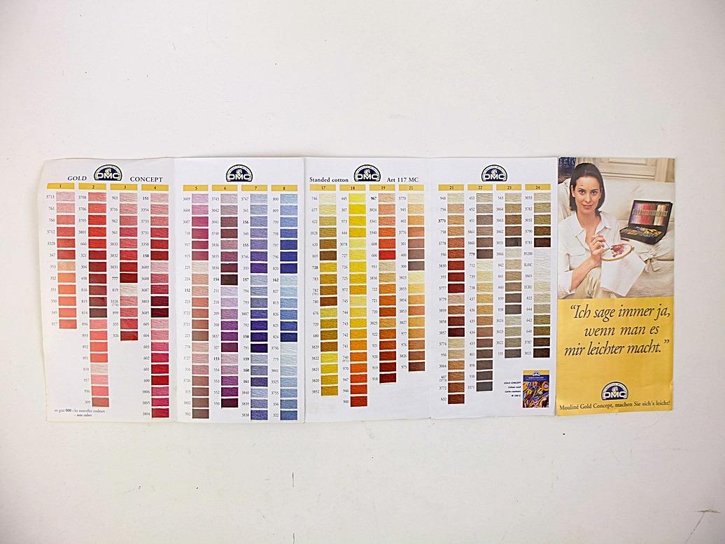 Folder dmc kleuren overzicht
