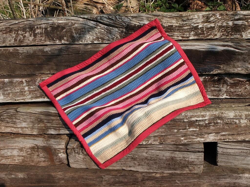 gehaakte deken van sudan wol