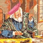 Achterkant tapisserie goudweger