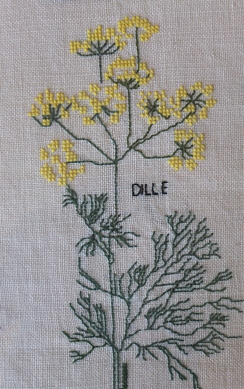 Dille, geborduurd