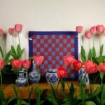 Rood en blauw quiltje