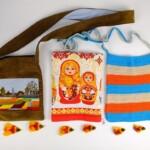 Twee kleine tasjes en handdoekje met baboeska