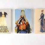Drie textielkaarten