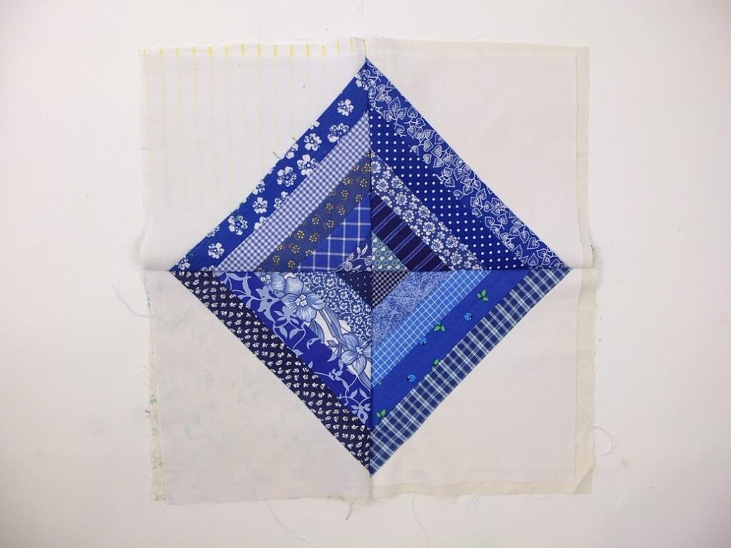 Blauwe patchwork ruit
