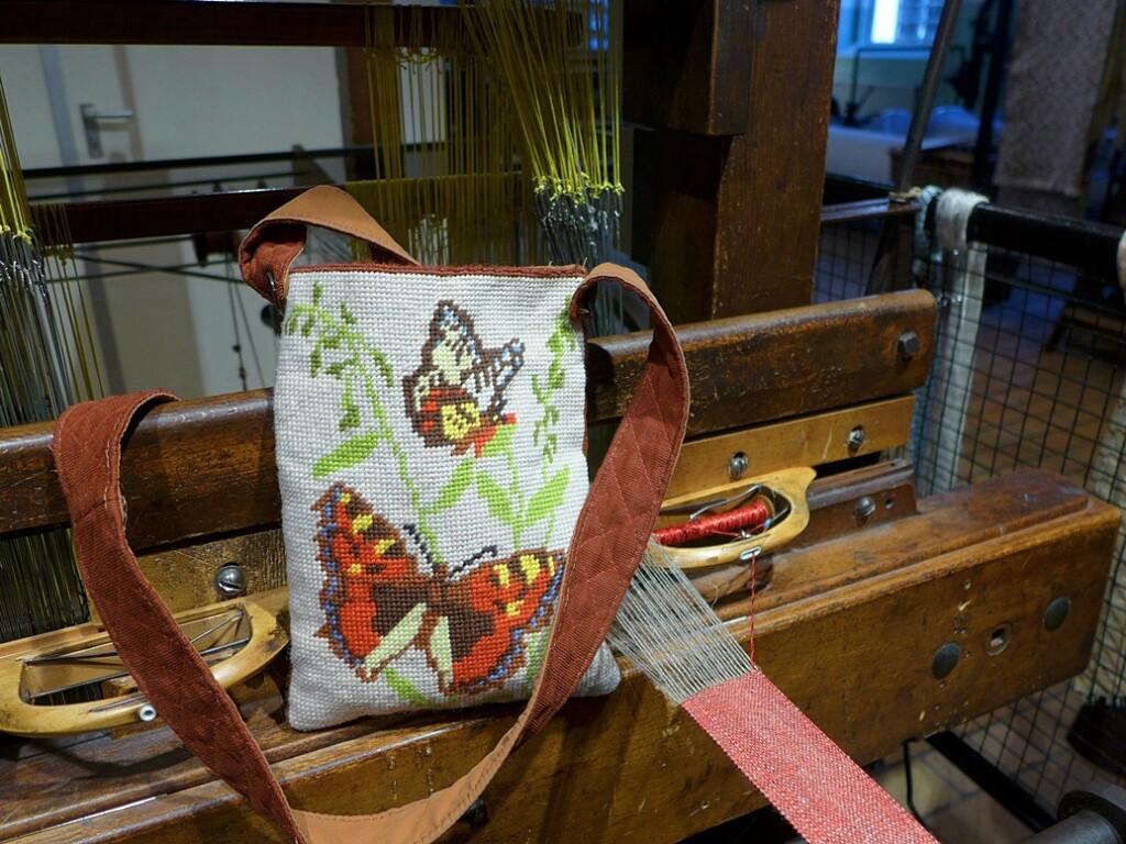 Vlindertasje in textielmuseum