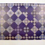 Afbeelding relief quilt blauwe nine patch