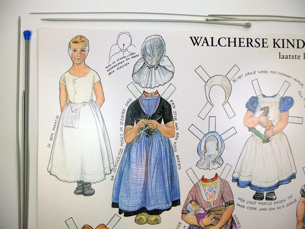 Detail knipplaat klederdracht Walcheren