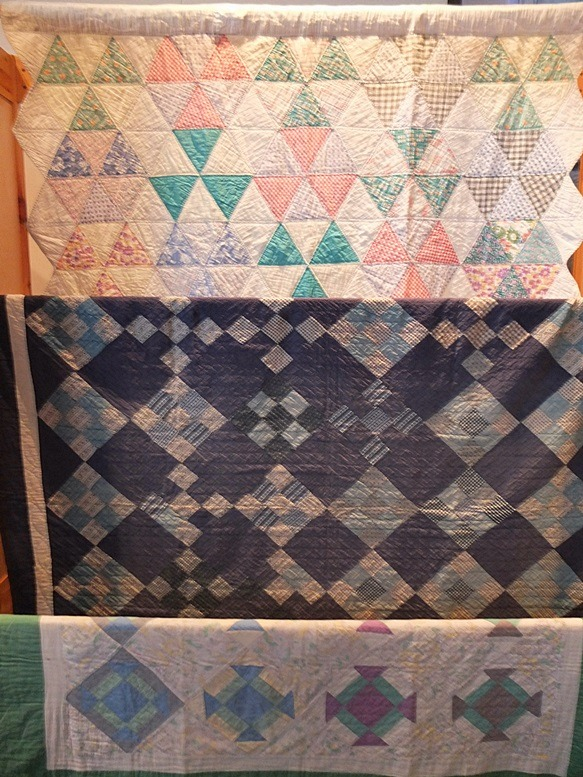 Drie oude Amish quilts uit collectie passing on the comfort