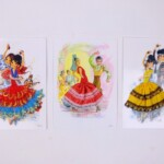 Drie rokjeskaarten uit Spanje