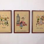 Drie schilderijtjes oudhollandse spelen