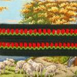 Haakwerk met tulpensteek op tapisseriekussen