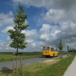 Historische bus op quiltroute