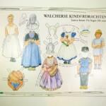 Knipplaat aankleedpoppen Walcherse klederdracht