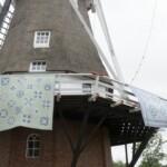 Molen in Groningen met twee quilts