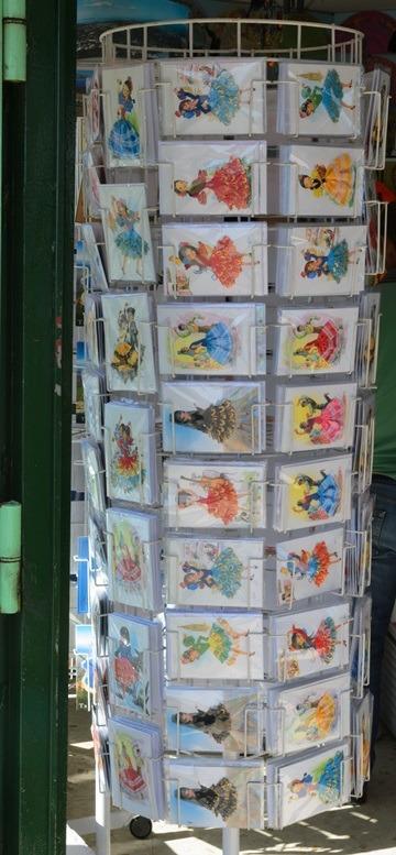 Molen met textielkaarten in Spanje