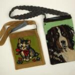 Tapisserietasjes hond en poes