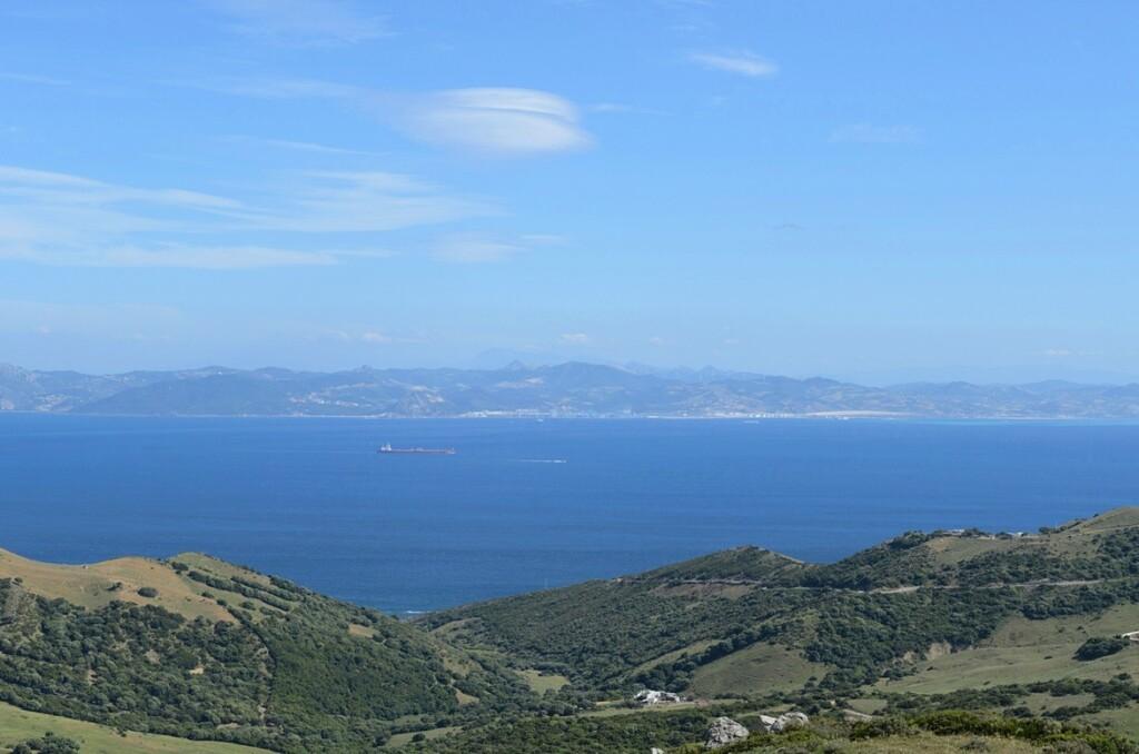 Uitzicht op Marokko vanaf Gibraltar