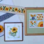 Borduurwerkjes zonnebloemen