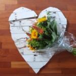 Hoiuten hart met bloemen