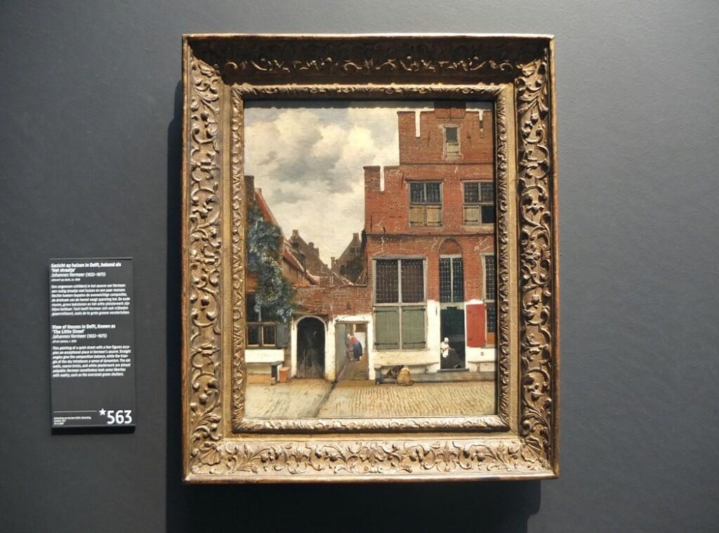 Schilderij Straatje van Vermeer