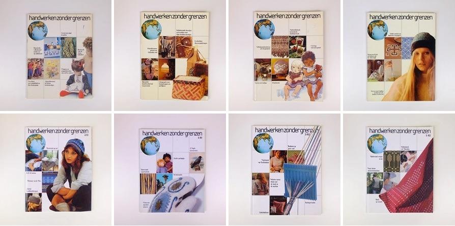 Acht oude tijdschriften Handwerken zonder grenzen