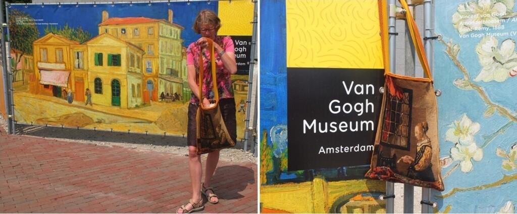 Grtoe kleurige schermen voor van Gogh museum