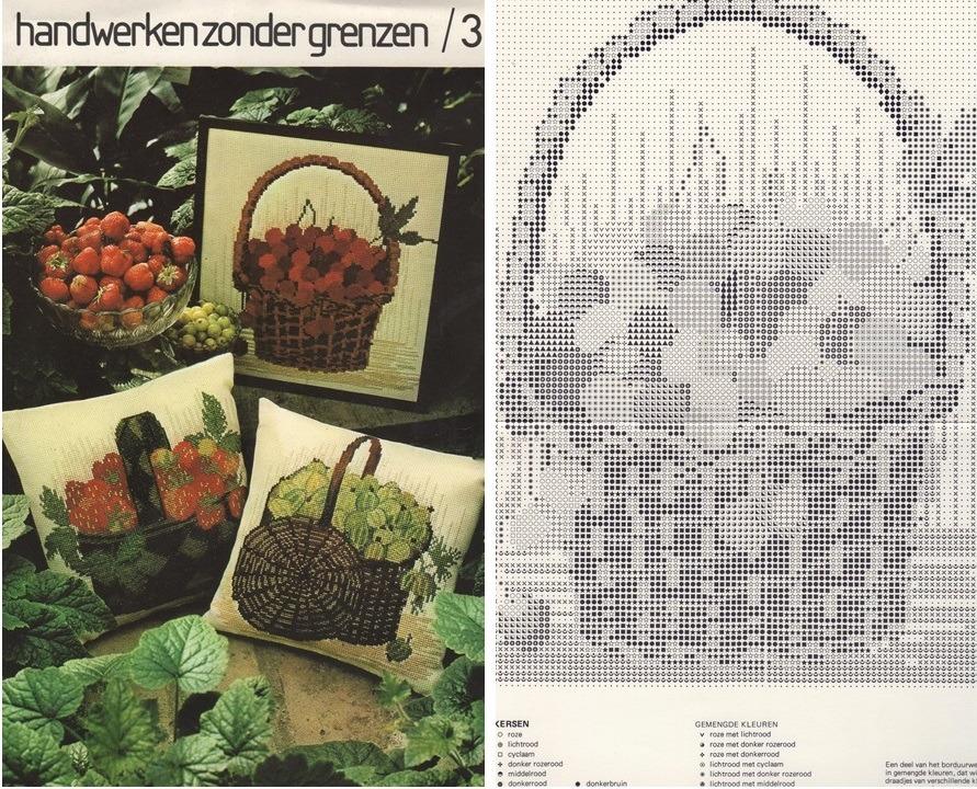 Kruissteekpatroon fruit bij HzG 3