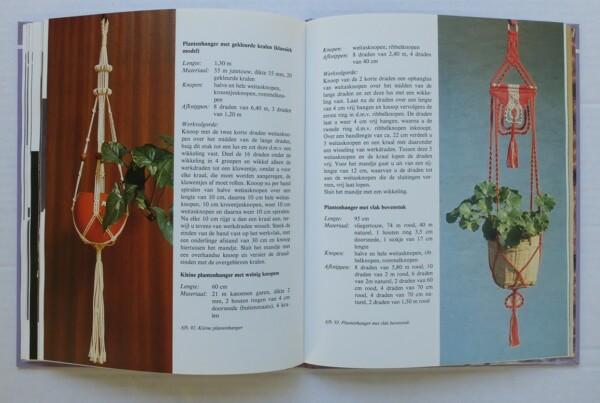 Pagina uit boek knoopkunst macrame
