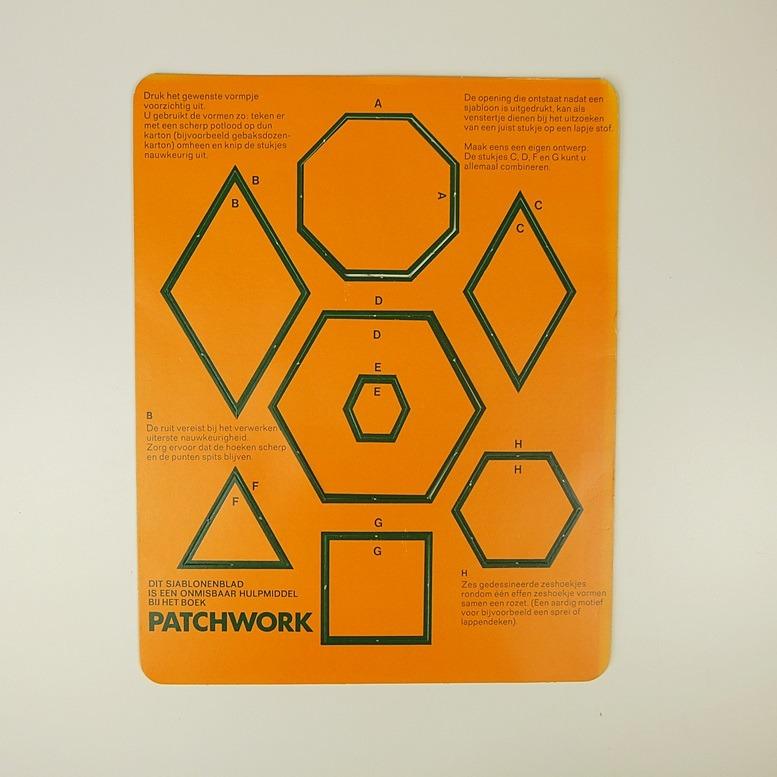 Sjablonenblad bij tijdschrift patchwork
