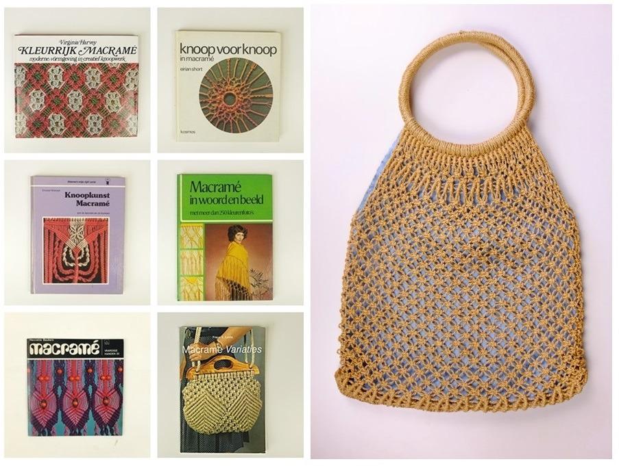 Zes boeken Macrame plus tas