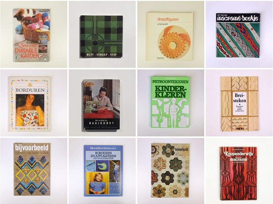 Twaalf tweedehands handwerkboeken