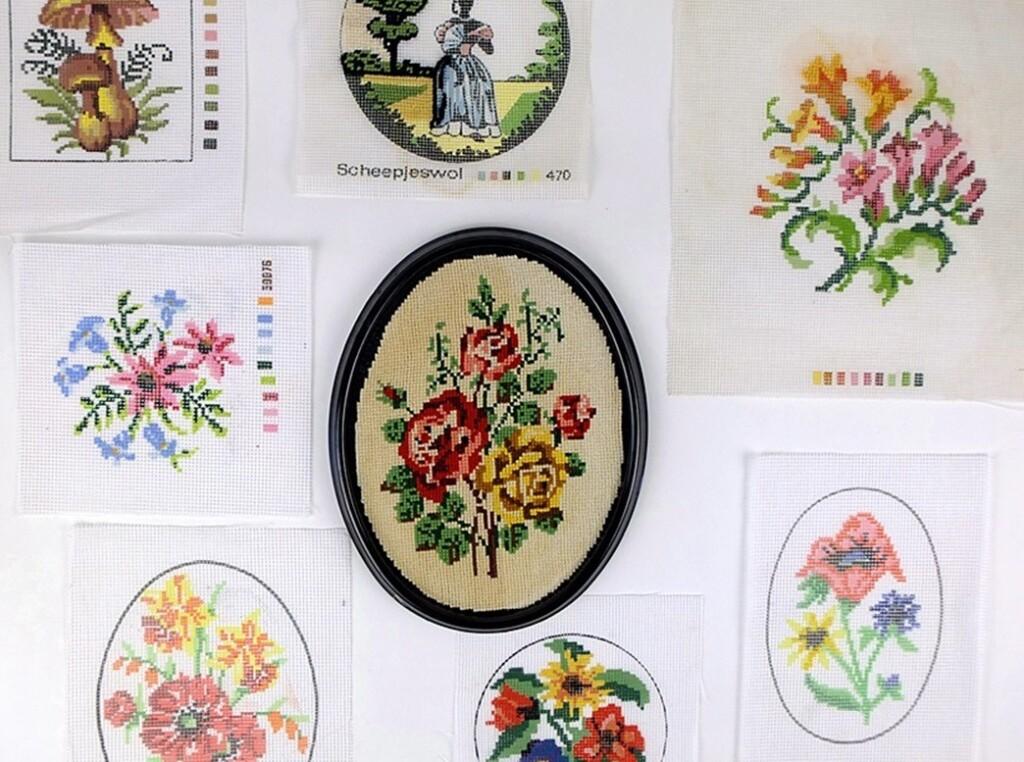 Bedrukt fijn stramien voor borduren