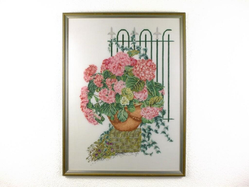 Groot schilderij Hortensia