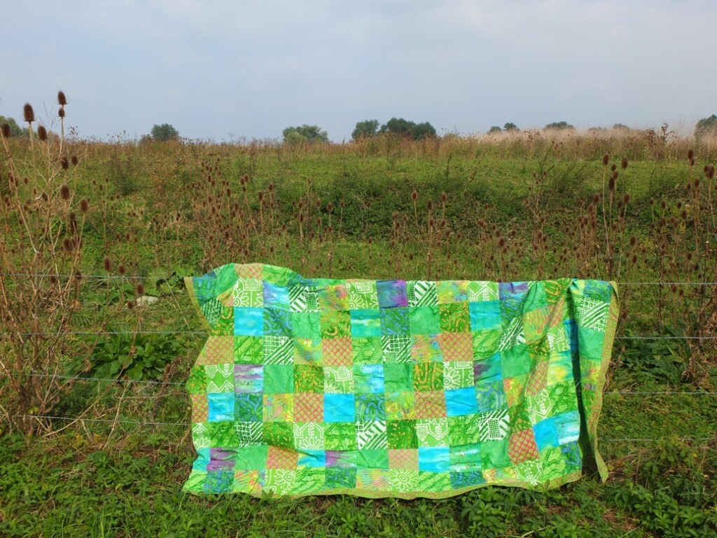 Patchwork picknickkleed van fairtrade stof