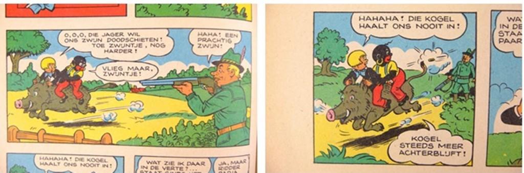 Twee strips uit Sjors en Sjimmie