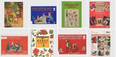 Acht boeken borduren voor kerst