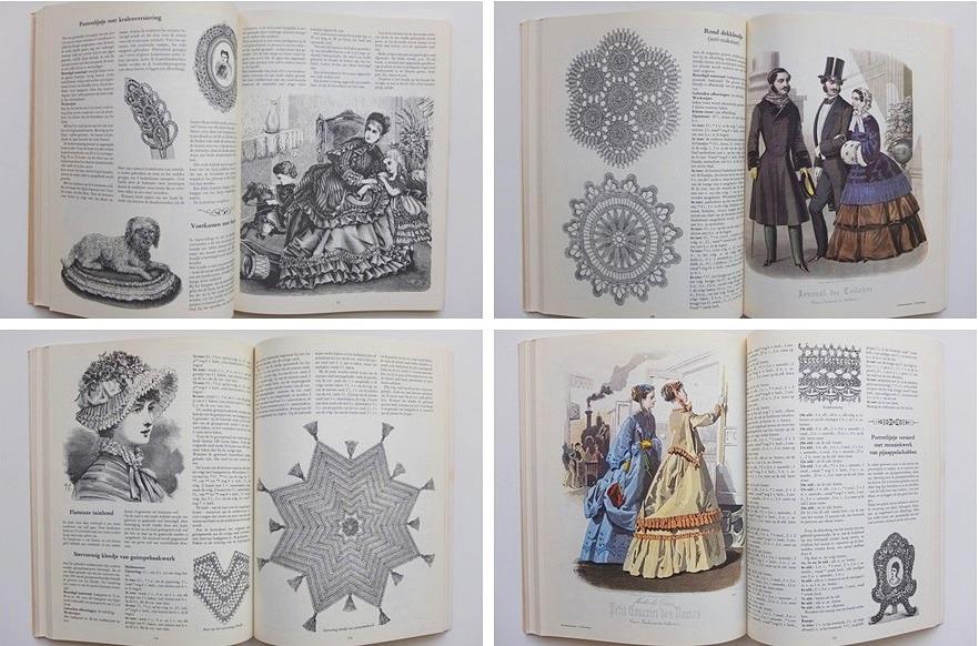 Afbeeldingen uit groot handwerkboek uit grootmoeders jeugd