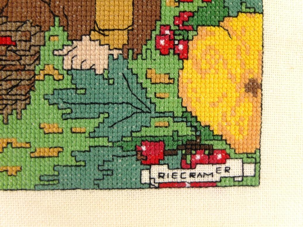 Detail Borduurwerk Herfst Rie Cramer