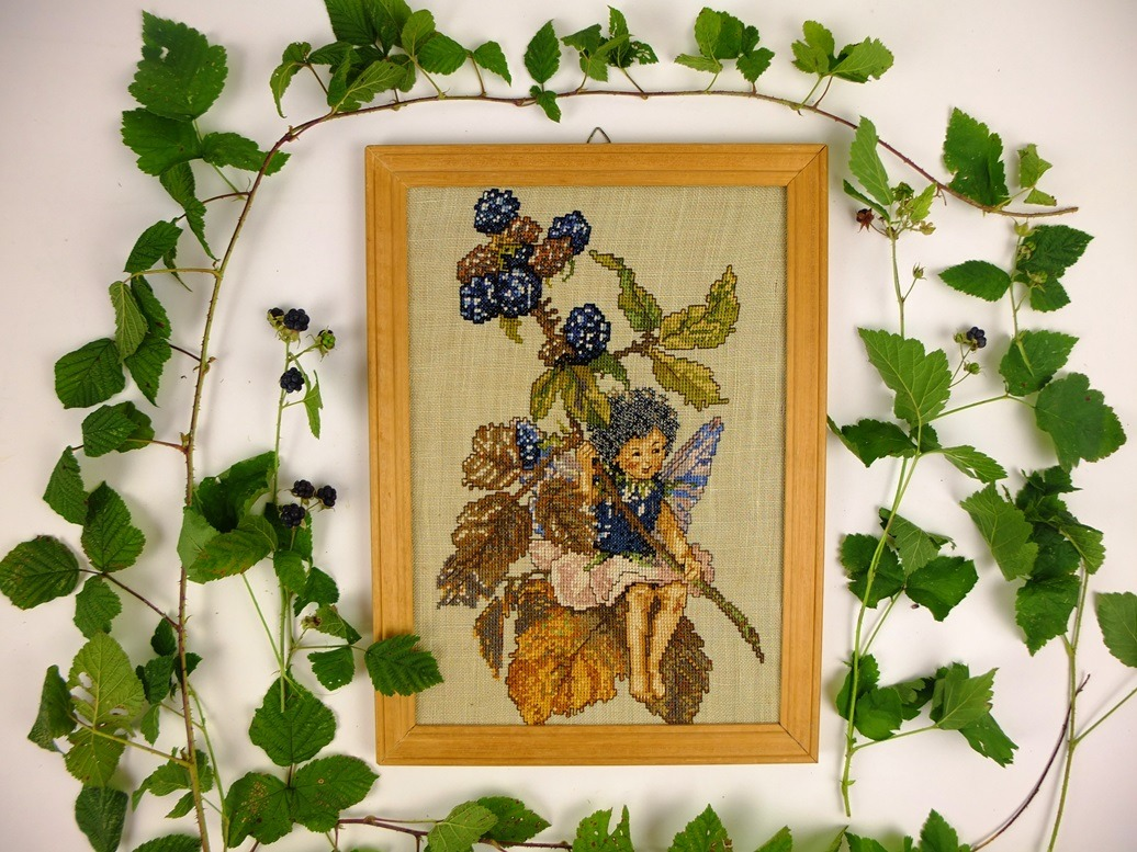 Flower fairy braam met bramenblad