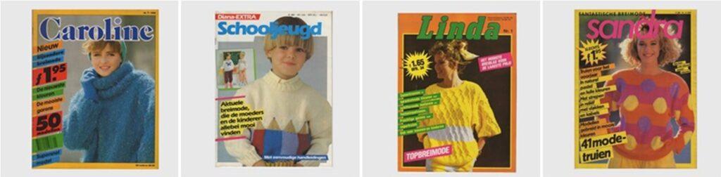 Oude tijdschriften breien jaren 80
