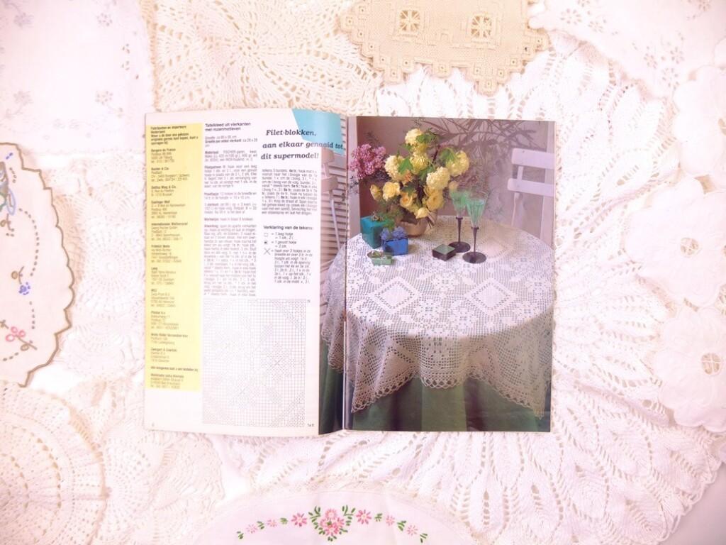 Bladzijde uit tijdschriftje Fijn Handwerken Diana